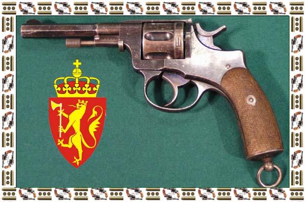 ...1893 года Norwegian Nagant M.1893 Revolver Норвегия Иностранные Наганы.